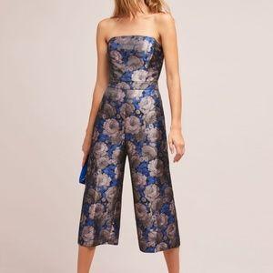 Anthropologie Greylin Jacquard Floral Jumpsuit